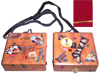 Decorated Wood Look Cigar Box Purse-Decorated Wood Look Cigar Box Purse