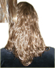 Medium Length Brown Clip On Hairpiece Ponytail K-68-10-Medium Length Brown Clip On Hairpiece Ponytail
