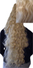 Pony Tail Clip On Hair Piece - Very Long Wavy Kuba 22b-Pony Tail Clip On Hair Piece