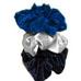 Neero & Ana Satin Skrunchies Midnight Blue White Black-Neero & Ana Satin Skrunchies Midnight Blue White Black