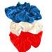 Neero & Ana Satin Skrunchies Picnic Blue Ivory Red-Neero & Ana Satin Skrunchies Picnic Blue Ivory Red